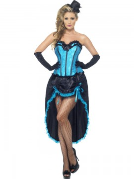 Costume burlesque bleu taille S