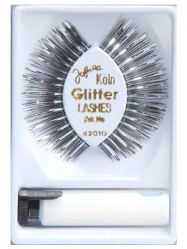Wimpern Glitter silber