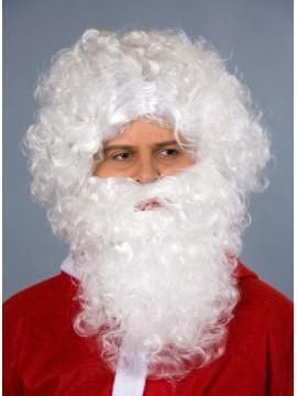 Perruque et barbe Saint Nicolas, coloris blanc