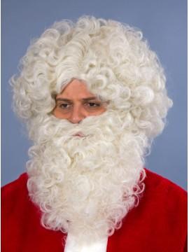 Perruque et barbe Saint Nicolas, coloris beige