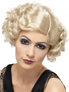 Perruque années 1920 blonde