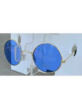 Lunettes années 1970, verres bleus