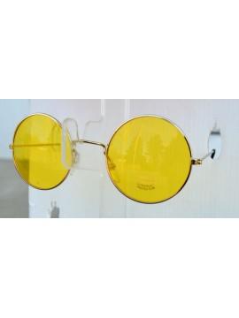 Lunettes années 1970, verres jaunes