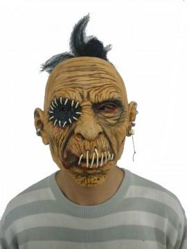 Maske Zombie mit Zigarre