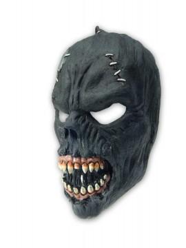Maske Zombie schwarz