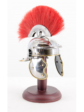 Casque miniature romain rouge