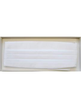 Ceinture de smoking, coloris blanc