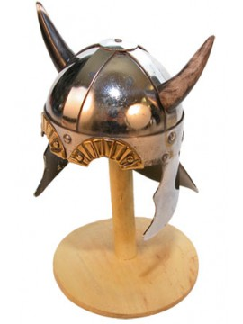 Casque miniature viking