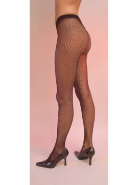 Collants résille, coloris rose