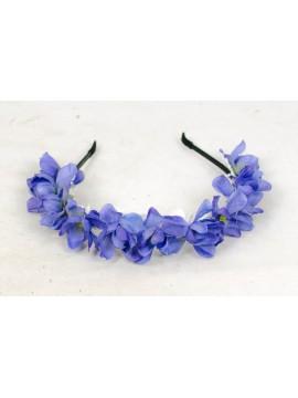 Haarreif mit blauen Blumen