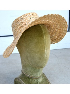 Chapeau Biedermeier, coloris naturel