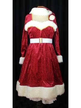 Weihnachtsfrau dunkelrot Grösse 36/38