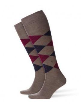 Chaussettes brun laine