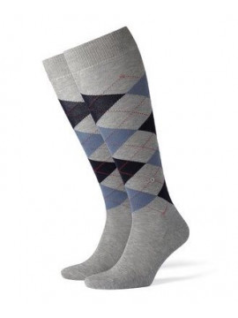 Kniestrümpfe grau/blau